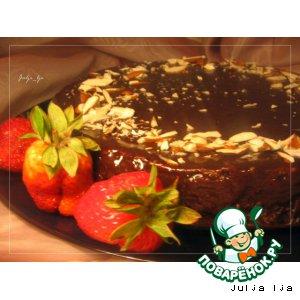 Шоколадно-ореховый торт без муки
