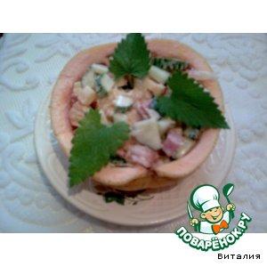 Салат в грейпфруте