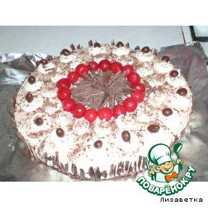 Кофейный торт с вишнями