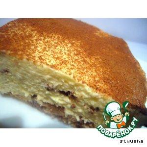Сырный десерт с миндальным печеньем
