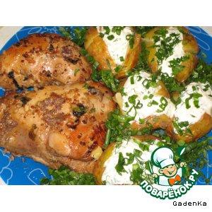 Маринованная курица запеченная в фольге