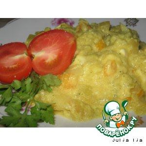 Рагу овощное с брынзой и сливками