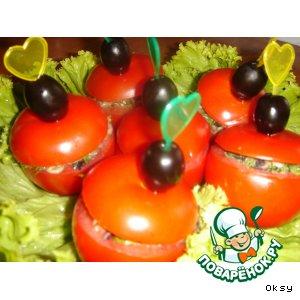 Фаршированные помидорчики на скорую руку