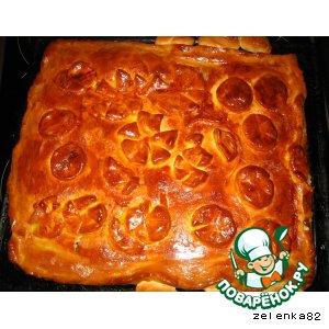 Сочный пирог со свежей капустой