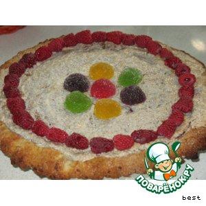 Ягодный пирог в ореховой шапочке
