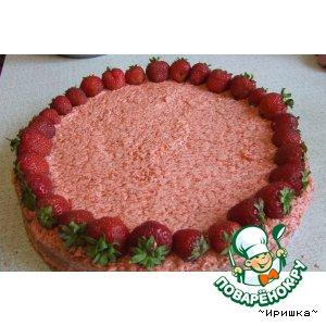 Бисквитно-клубничный торт
