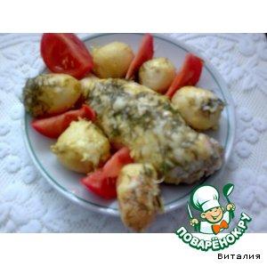 Куриные грудки, запеченные с молодым картофелем