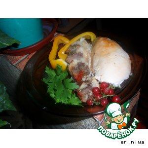 Фаршированый цыпленок