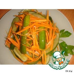 Салат из жареных огурцов