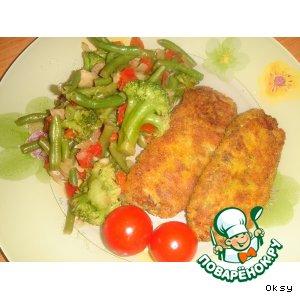 Картофельные крокеты с сайрой
