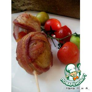 Картофель, запеченный с беконом на шпажках «Пикничок»