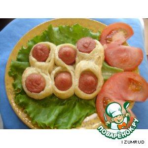 Гусенички с сосисками