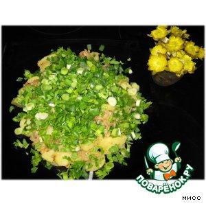 """Тeплый салат из картофеля """"Доброе утро"""""""