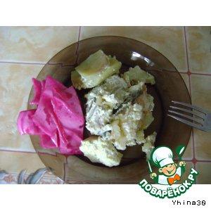 Рыба с картошкой в сливочках