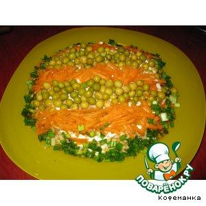 Свекольный салат в полоску