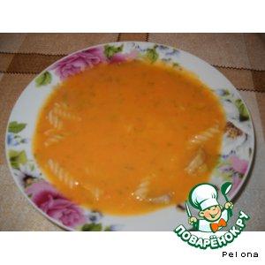 Суп-пюре с макаронами и говядиной