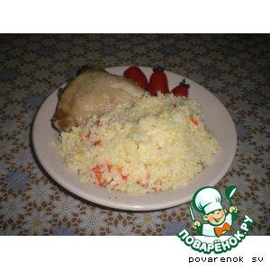 Курица с рисом, болгарским перцем и Черри