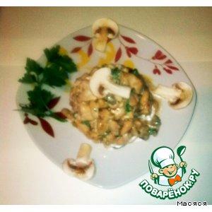 Салат с курицей и белой фасолью
