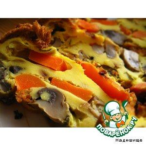 Морковно-грибная запеканка