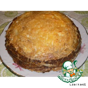 """""""Неправильный"""" печeночный торт"""