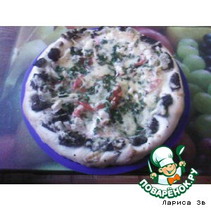 Пицца-небылица с грибами-сморчками