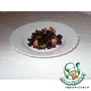 Салат со свеклой и сыром в соевом соусе