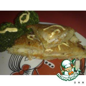 Рыба в картофеле с овощами