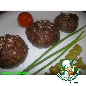 Мясо-кабачковые маффины с начинкой