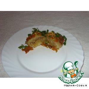 Гречнево-картофельные голубцы со шкварками
