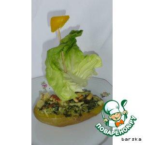 """Запечeнный картофель """"Зелeная мечта"""""""