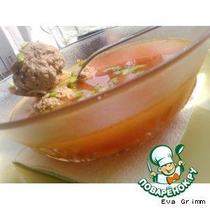 Суп с томатами в собственном соку