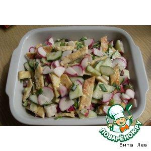 """Весенний салат """"Пятиминутка"""""""