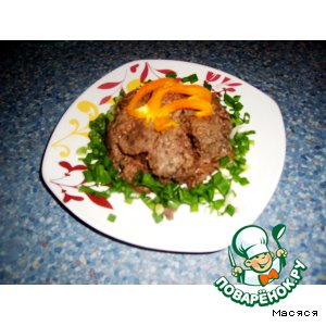 Мясо в соусе из слив