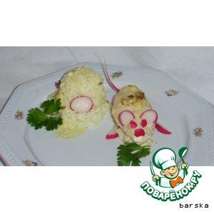 Куриные грудки в сливочно-луковом соусе  (с детским вариантом)