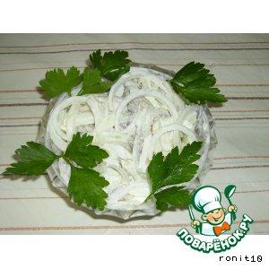 Салат с куриным сердцем