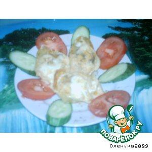 Конкильони с мясом в сливочном соусе