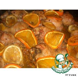 Цитрусовые куриные голени