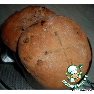 Пшенично-ржаной хлеб с изюмом для почемучки