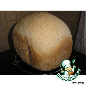 Хлеб с черным перцем и луком
