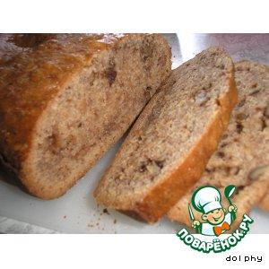 Быстрый банановый хлеб с орехами