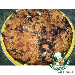 Пирог с чeрной смородиной и киви