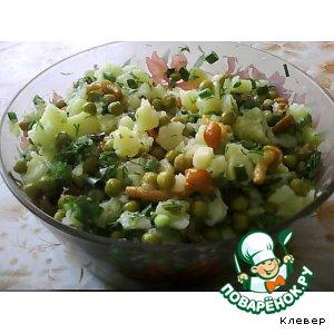 Салат с опятками