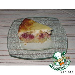 Вишнeво-яблочный пирог