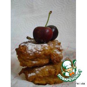 Яблочные пончики с черешней