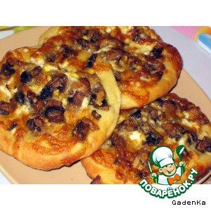 Картофельные лепешки с грибами и сыром