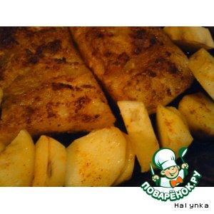 Сало запеченное с картофелем