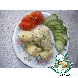 Мясо с картошкой, запечeнные в фольге