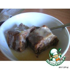 Пудинг из фиников с карамельным соусом