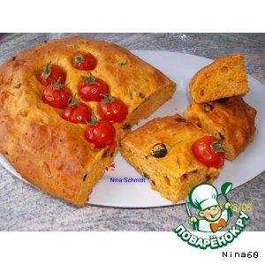 Focaccia mit Tomaten - фокачча с томатами