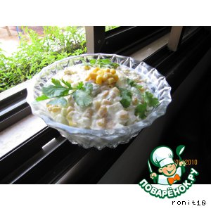 Салат кукурузно-яблочный